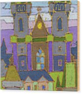 Prague Panorama Wood Print