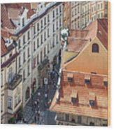 Prague Red Rooftops In The Old Town Wood Print