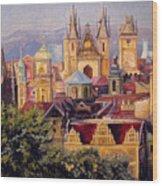 Prague. Roofs. Wood Print