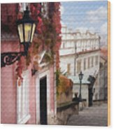 Prague Stairs Wood Print