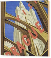 Prague Travel Poster Wood Print