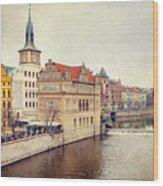 Prague View Wood Print