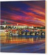Pragues Historic Charles Bridge Wood Print