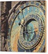 Praha Orloj Wood Print by Shawn Wallwork