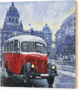 Praha Rnd Bus 1950 Skoda 706 Ro Wood Print