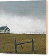 Prairie Church Wood Print