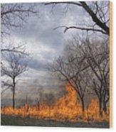 Prairie Fire Wood Print