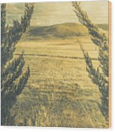 Prairie Hill Wood Print