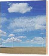 Prairie Landscape Alberta Canada Wood Print