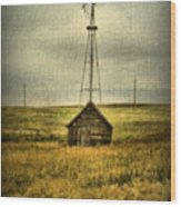 Prairie Pump Wood Print