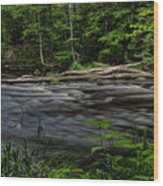 Prairie River Log Jam Wood Print