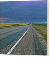 Prairie Storm Saskatchewan Wood Print
