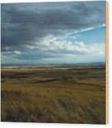 Prairie Storm Wood Print