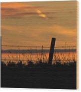 Prairie Sunset Wood Print