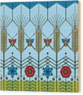 Prairie Wheat Wood Print