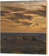 Prairie Wind Overlook Badlands South Dakota Wood Print