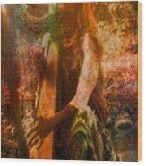 Praise Him With The Harp II Wood Print