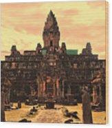 Prasat Bakong Temple I Wood Print