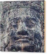 Prasat Bayon Stone Face  Wood Print