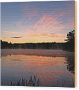 Prat Pond Morning Wood Print