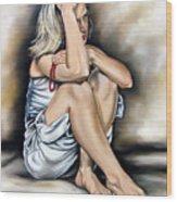 Prayer II Wood Print by Ilse Kleyn