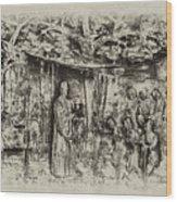 Prayer Meeting At Jamestown Wood Print