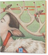 Prayer Of Elk Woman Wood Print