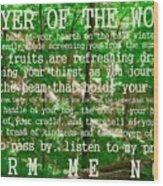 Prayer Of The Woods 2.0 Wood Print
