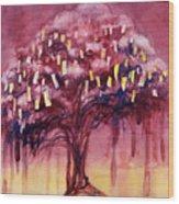 Prayer Tree II Wood Print by Janet Chui
