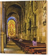 Prayers In The Cathedral Wood Print