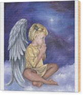 Praying Angel Wood Print