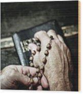 Praying For A Change Wood Print