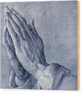 Praying Hands, Art By Durer Wood Print