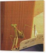 Praying Mantis II Wood Print