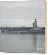 Pre-commissioning Unit Gerald R. Ford Wood Print