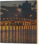 Pre-dawn Causeway View Wood Print