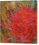Bloom In Bits Wood Print