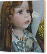 Pre Raphaelite Doll  Wood Print