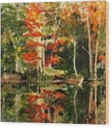 Prentiss Pond, Dorset, Vt., Autumn Wood Print