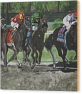 Preakness 2010 Horse Racing Wood Print