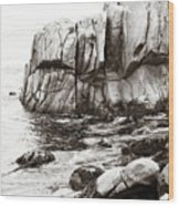 Precarious At Pebble Beach Wood Print