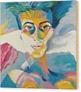Preciada Azancot Self-portrait With A Dove Wood Print