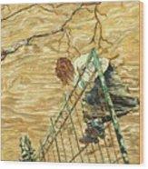 Precipice Wood Print
