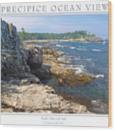 Precipice Ocean View Wood Print