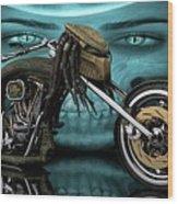 Predator Chopper Wood Print