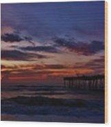 Predawn Avon Pier 2 4/10 Wood Print