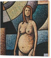 Pregnant Wood Print