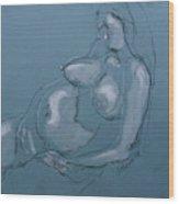 Pregnant Woman II Wood Print