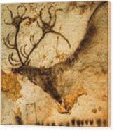 Prehistoric Artists Painted A Red Deer Wood Print by Sisse Brimberg