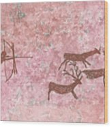 Prehistoric Hunter Wood Print